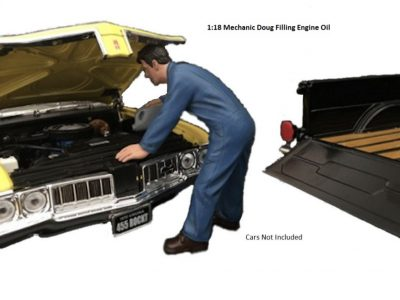 1:18 MECHANIC DOUG FILLING ENGINE OIL